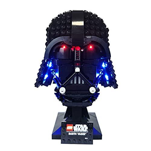 SKAJOWID Kit de iluminación de Bloques de construcción, Kit de luz LED 75304 para el Modelo de Casco Lego Darth Vader, Kit de luz LED Compatible con Lego 75304 (Modelo Lego no Incluido)