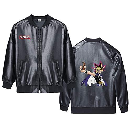 Yu-Gi-Oh Pullover Ocio clásico Escudo Primavera y el otoño Cardigan con Cremallera de la Manera Personalizar Chaqueta de Cuero niños y niñas