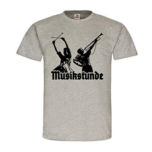Musikstunde Spielmannzug Trommel Fanfare Landsknecht Jugend T Shirt #19881, Größe:L, Farbe:Grau