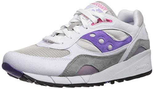 Saucony Shadow 6000 Bianco/Grigio/Porpora Sneaker-UK 11 / EU 46.5
