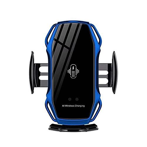 Soporte Celular Bicicleta Cargador de teléfono inalámbrico del soporte del automóvil del sensor automático Compatible con el soporte para iPhone 12 Soporte móvil Montaje compatible con el cargador Sam