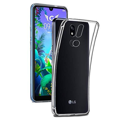 REY - Funda Carcasa Gel Transparente para LG K40, Ultra Fina 0,33mm, Silicona TPU de Alta Resistencia y Flexibilidad