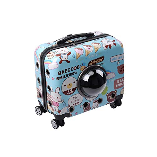 SONGXZ Pet Suitcase 16-Zoll-Multifunktions-Tragbare Pet Case Universal-Rad Trolley Pet Koffer