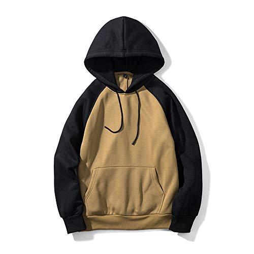 LUOYLYM Herbst Und Winter Neue Langärmelige Hemden Für Männer Und Frauen Pullover Street Color Kapuzenjacke Multi-Color Farbabstimmung Sweaterf4 / XL