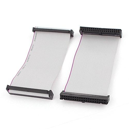 Sourcingmap® 2Stück fc40p 40-Pin-Flachbandkabel IDC Buchse Verlängerung Kabel 10cm de