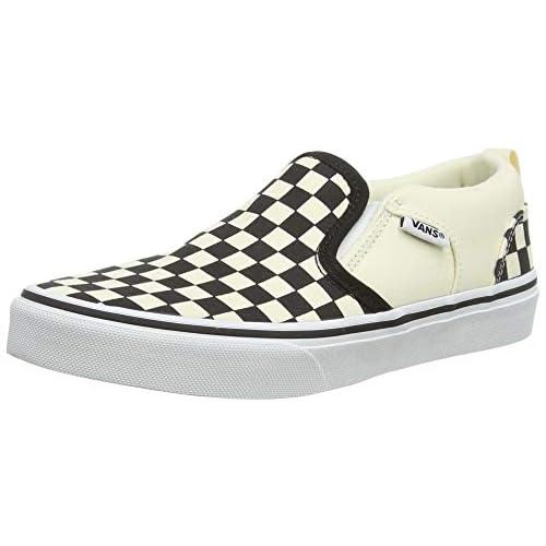 Vans Asher, Slip-on Sneaker Unisex-Bambini, Bianco (Checkers/Black/Natural), 34 EU