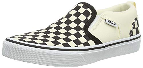 Vans Asher, Slip-on Sneaker Uomo, Bianco (Checkers/Black/Natural), 37 EU