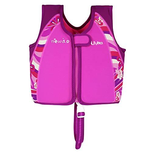 OldPAPA Kinder Schwimmweste für Kleinkinder, Schwimmjacke Baby Schwimmende Badeanzug mit Schrittgurt 1-6 Jahre/15-50lbs/Rose Rot M