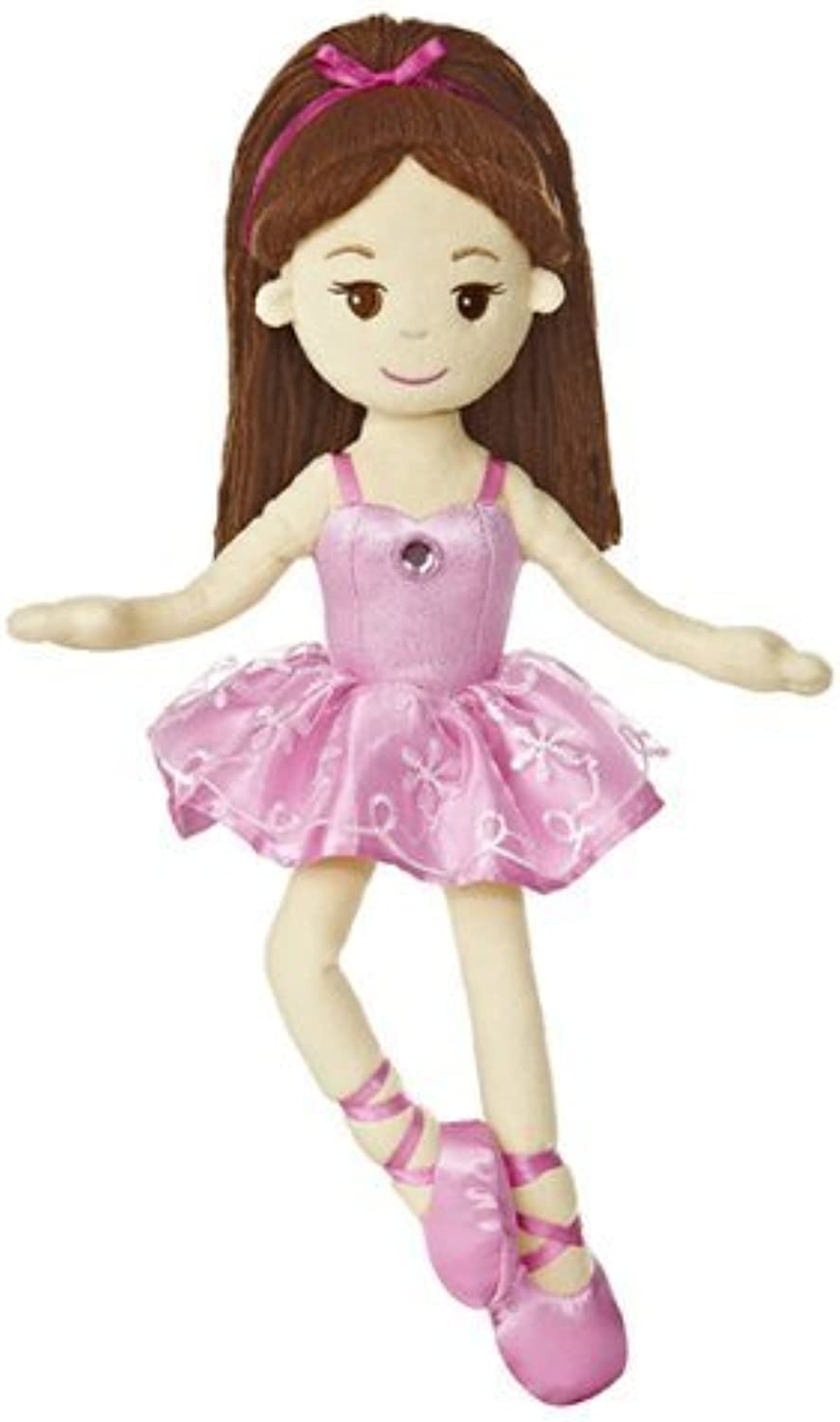 Aurora World Brunette Ballerina 14.5  Plush by Aurora World Inc [Toy]