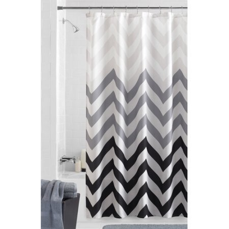 Mainstays Flux Fabric Shower Curtain