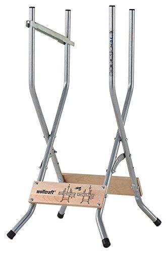 Wolfcraft 5119000 Soporte para Cortar leña con motosierras, Gris