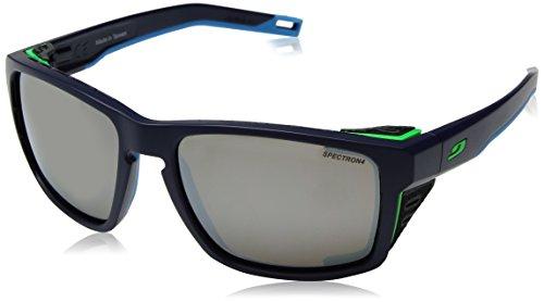 Julbo Shield - Occhiali da sole unisex adulto, blu scuro/blu/verde