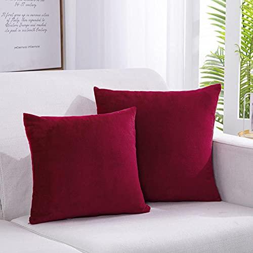 guanciali, cuscino ideale per tutti i letti, offerta, confortevole -vino rosso_50x50 cm.
