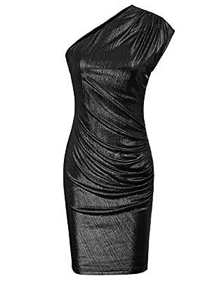 GRACE KARIN Women Sequin Glitter Sleeveless Bodycon Stretchy Party Dress Clubwear Black XXL