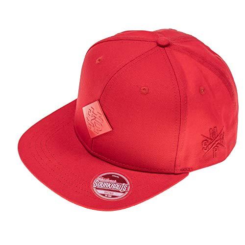SOURKRAUTS Snapback Rot I Baseball Cap Till für Herren I Tuning Basecap I Kappe mit SK-Logo