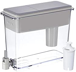 Brita 18 Cup UltraMax Water Dispenser with 1 Filter, BPA Free, Gray, Extra Large