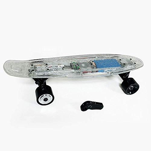 DX Cruiser Skater Skating - Monopatín eléctrico con mando a distancia, flash...