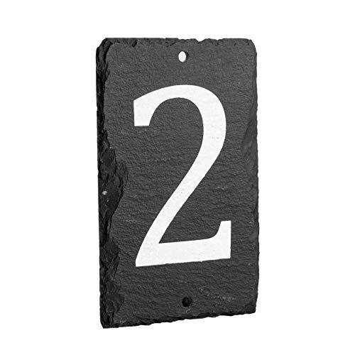 número del inmueble/de casa de pizarra natural sólido incluyendo fijaciones - número 2