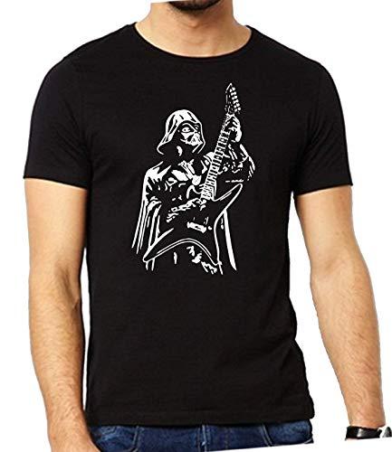 Lustiges Herren-T-Shirt mit Gitarre spielendem Darth Vader, schwarz, xl