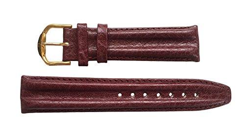 Jacques Lemans Reloj de Pulsera Piel 20mm Burdeos Doble Reborde