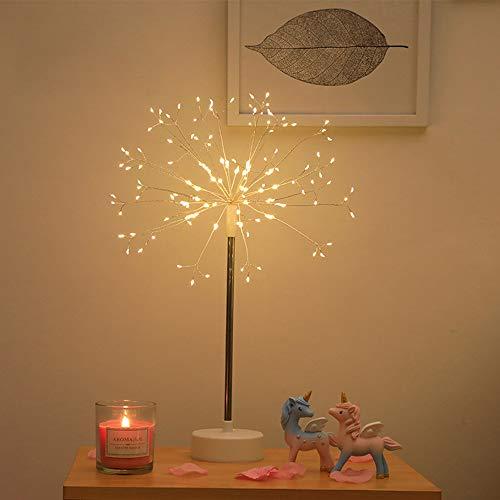 TOPmountain Luces de fuegos artificiales, 120 luces LED 8 modos de luces de hadas para el hogar interior, decoración de fiestas, luz cálida
