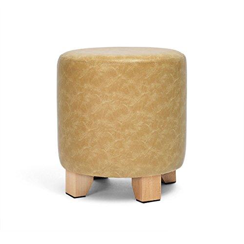 ZK-Wooden stool MDD - Kleine Lederhocker Tür Schuh Bank Wohnzimmer Mode Sofa Hocker kreative Hocker Hause Erwachsenen kleinen Hocker modernen minimalistischen