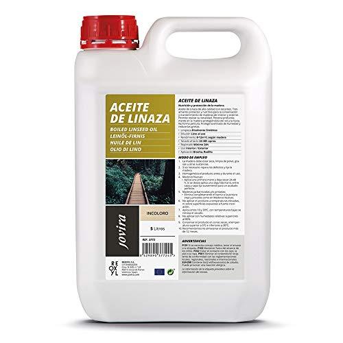 HUILE DE LIN (100% PURE NATURELLE) Protection, nutrition et entretien du bois. (5 Litre)