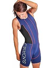 Sundried mujer acolchada Triathlon Tri Suit compresión Duatlón Ejecución de juego de la piel Natación Ciclismo