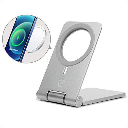 Soporte Movil Mesa, Plegable Soporte Teléfono Móvil Ajustable Apoya Movil Escritorio Aluminio para iPhone 12/Mini/12 11 Pro MAX/XS MAX/XR/SE- color negro