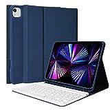 """Funda con Teclado para iPad Pro 11"""" 2021/2020/2018, Cubierta con Bluetooth Inalámbrico Desmontable E..."""