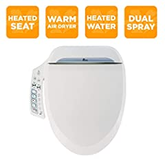 Convenient attached side panel with Auto & Kids wash modes Heated seat and warm air dry Dual action nozzle Aerated Bubble Infusion Technology Slow-closing seat & lid with quick release.Heater capacity:250 W