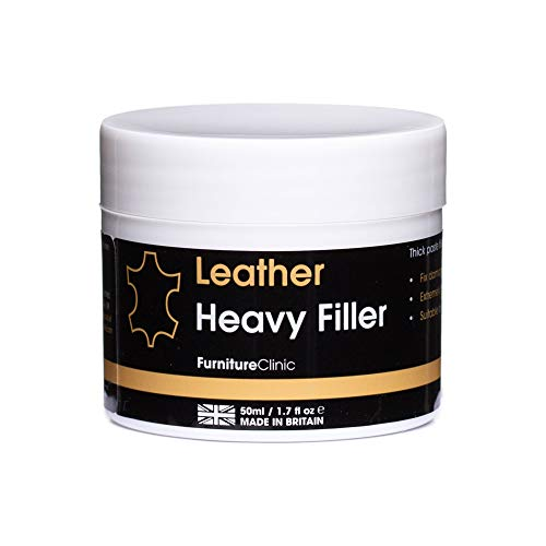 Furniture Clinic Leather Repair Filler: For Filling Holes, Scuffs,...