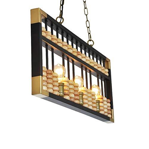 Yilingqi-1 Kreative Abakus Pendelleuchte Retro LOFT hölzerne Kronleuchter Decke dekorative Beleuchtung für Hotel-Bar-Restaurant Innen