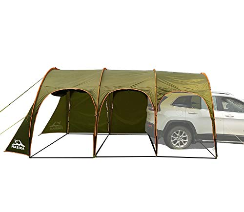 Family Camping Tunnel Tent Top Canopy Cover for Car Trailer BBQ Waterproof Portable 8-10 Person...