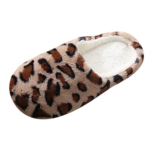 Geilisungren Hausschuhe Damen Flauschig Geschlossen Hausschuhe Winter Warm Plüsch Pantoffeln Weiche Bequeme Katze Pantoffeln rutschfeste Slipper für Herren Mädchen Jungen