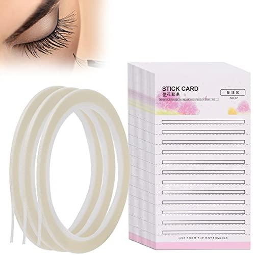 Wimpernverlängerungs Aufbewahrungskarte, individueller Wimpernständer 30 teilig Wimpernaufbewahrung Bequem zu bedienen, Wimpernaufbewahrungsstreifen mit Klebeband für Einzel und Wimpernkünstler