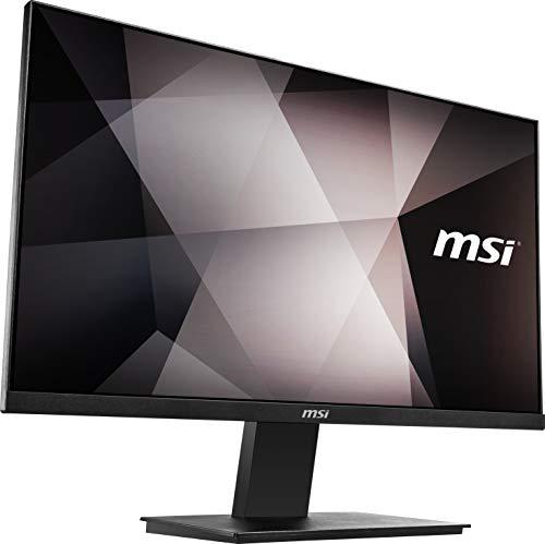 MSI PRO MP241 Monitor Professionale Flat 24 , Display 16:9 Full HD (1920x1080), Frequenza 60Hz, Tempo di risposta 7ms, Pannello IPS antiriflesso, collegamenti 1x HDMI e 1x VGA, VESA 75x75mm standard