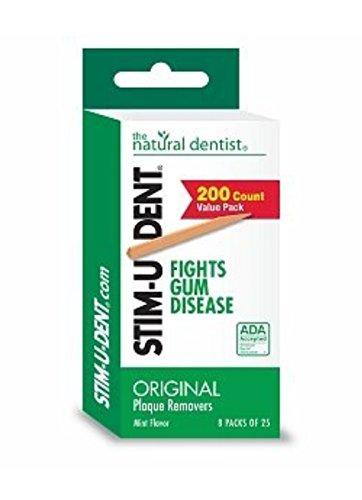 Stim-U-Dent Plaque Removers 24 Packs of 25 Picks/Pack (600 Picks) - Mint Flavor