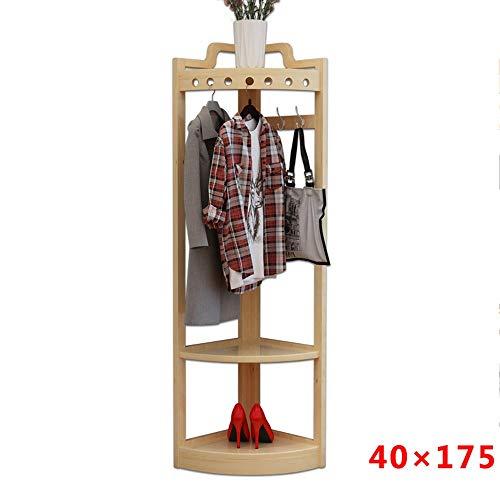 POETRY kapstok van massief hout grenen plat Coat Rack Europese stijl hoekhaken eenvoudige en moderne vloeren kledinghangers rekken 40 x 175 cm 45 x 180 cm A ++ (kleur: C Dimen