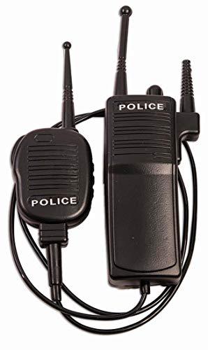 Forum Novelties Police Walkie Talkie Set, Black, Standard (Non-functioning)