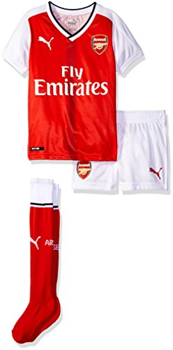 PUMA Mens Arsenal Licensed 3PC Home Kit-2016-2017 X-Small, High Risk Red/PUMA White