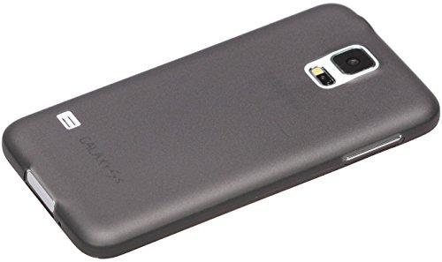itronik® 0,35mm Ultra Slim flacher Bumper - die dünnste flexible Schutzhülle für Samsung Galaxy S5 Mini SM-G800 - Bumpers Hülle Hülle Schale Schutz Tasche - schwarz transparent durchsichtig