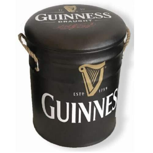 Sgabello o contenitore in metallo 32 cm Guinness Drinks Happy Hour irlandese ispirato alla birra irlandese contenitore vintage retrò Mancave Man Cave capanno garage officina pub bar regalo