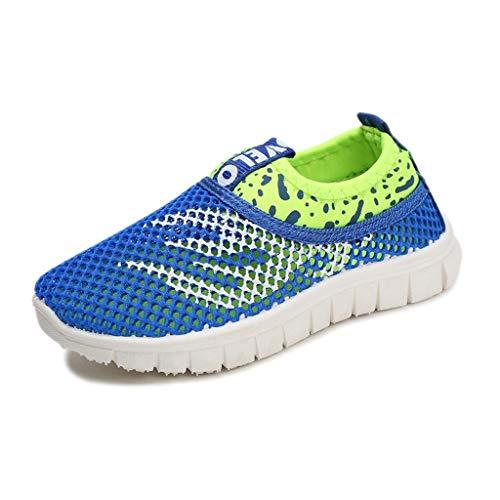 Vamoro Infant Kinder Baby Jungen Mädchen Mesh Feuer Print Sport Run Sneakers Freizeitschuhe Mesh Schuhe Atmungsaktiv Sandalen Geschlossene Sandalen(Blau,27 EU)