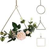 JYCRA - Cornice per ghirlande in filo di ferro, 3 pezzi, geometriche in metallo per appendere piante e fiori, decorazione per la casa, per feste di nozze (piante non incluse)