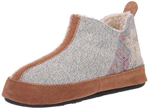 Acorn womens Forest Bootie Slipper, Heather Grey Hare, 9.5-10.5 US