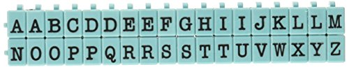 Contact USA Pegz Upperase Alphabet-Stempel-Set, Tiffany-Blau, M