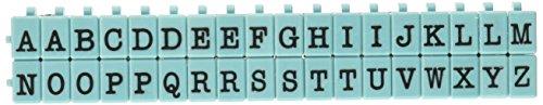Contact USA Pegz Upperase Alphabet-Stempel-Set, Tiffany-Blau, mittelgroß