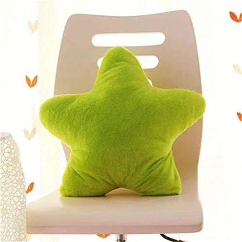 Amyseller Almohada de peluche con forma de estrella verde para niños, decoración de Navidad, para niños