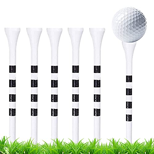 Tees Golf De Madera, 100 Piezas Tees de Golf de bambú, Tees...